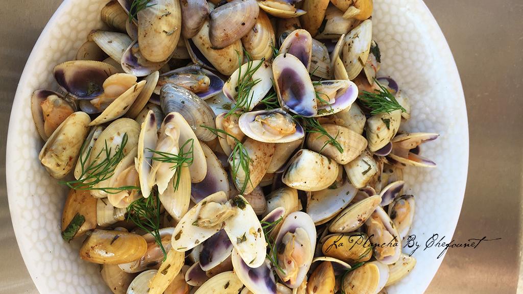 Plancha De Tellines Aux Algues Recettes Et Cuisine A La Plancha
